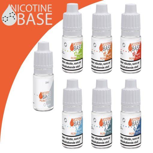 10ml Nicotine Base PG30:VG70