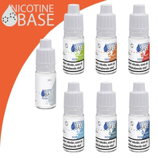 10ml Nicotine Base PG50:VG50