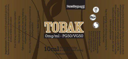 Tobak Sundbygaard E-væske
