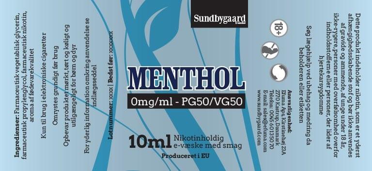 Menthol Sundbygaard E-væske